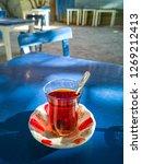 turkish tea in traditional tea... | Shutterstock . vector #1269212413