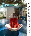 turkish tea in traditional tea... | Shutterstock . vector #1269212416