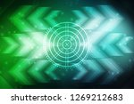 2d illustration technology... | Shutterstock . vector #1269212683