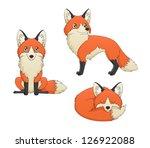 a set of 3 illustrations... | Shutterstock . vector #126922088