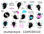 character cute monster big... | Shutterstock . vector #1269230110