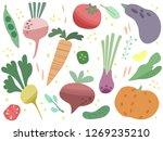 set of colorful vegetables....   Shutterstock .eps vector #1269235210