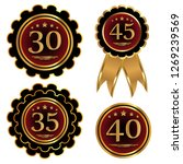 set of anniversary signs. the...   Shutterstock . vector #1269239569