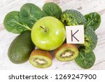 fresh fruits and vegetables... | Shutterstock . vector #1269247900
