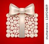 pearl gift   vector... | Shutterstock .eps vector #126924809