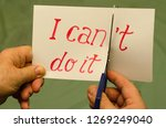 man using scissors to remove...   Shutterstock . vector #1269249040