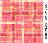 plaid. seamless background with ... | Shutterstock .eps vector #1269249130