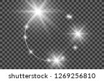 vector light effect with circle ... | Shutterstock .eps vector #1269256810