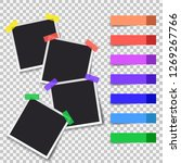 squares frame template with... | Shutterstock .eps vector #1269267766