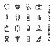 medical icons with white... | Shutterstock .eps vector #126926873