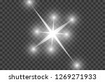 glow light effect. starburst... | Shutterstock .eps vector #1269271933