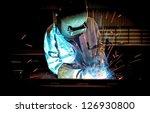 welding with sparks | Shutterstock . vector #126930800