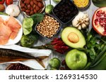 healthy food clean eating... | Shutterstock . vector #1269314530