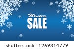 winter sale background with... | Shutterstock . vector #1269314779