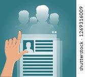 job agency  summary  search | Shutterstock . vector #1269316009