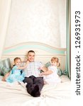 happy family nice and smiling... | Shutterstock . vector #126931973