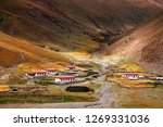 tibetan dwellings in the... | Shutterstock . vector #1269331036