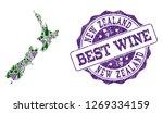 vector collage of grape wine... | Shutterstock .eps vector #1269334159