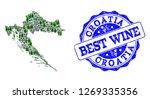 vector collage of grape wine...   Shutterstock .eps vector #1269335356