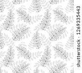 seamless pattern with floral... | Shutterstock .eps vector #1269335443