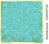 vintage wave background | Shutterstock .eps vector #126933710