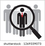 people search   vector... | Shutterstock .eps vector #1269339073
