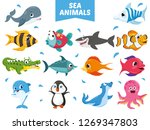 vector illustration of sea... | Shutterstock .eps vector #1269347803