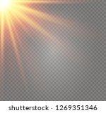 white glowing light burst...   Shutterstock .eps vector #1269351346