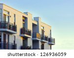 modern apartment balcony at... | Shutterstock . vector #126936059