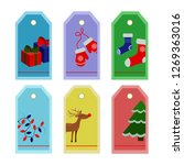 Set Of Christmas Labels And...