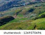 landscape green meadow hill...   Shutterstock . vector #1269370696