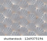 geometric seamless pattern with ... | Shutterstock .eps vector #1269375196