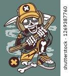 hip reaper cartoon character | Shutterstock .eps vector #1269387760