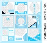 9 slides cyan color unique... | Shutterstock .eps vector #1269417736