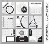 9 slides black   white color... | Shutterstock .eps vector #1269418450