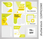 9 slides unique editable modern ... | Shutterstock .eps vector #1269421060