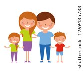 family characters cartoon | Shutterstock .eps vector #1269435733
