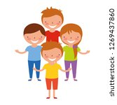 boys and girl friends together | Shutterstock .eps vector #1269437860