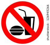 no eating vector sign | Shutterstock .eps vector #126945266