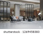hotel lobby interior with... | Shutterstock . vector #1269458383