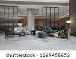 Hotel Lobby Interior With...