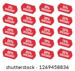 discount labels set  sale tag ... | Shutterstock .eps vector #1269458836