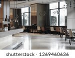 restaurant interior  part of... | Shutterstock . vector #1269460636