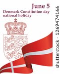flag of denmark  denmark... | Shutterstock .eps vector #1269474166