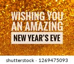 wishing you an amazing new year ... | Shutterstock . vector #1269475093