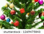 beautiful christmas tree with... | Shutterstock . vector #1269475843