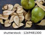 closeup of crispy fruit chips...   Shutterstock . vector #1269481300