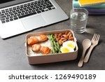 container with natural protein... | Shutterstock . vector #1269490189