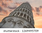 leaning tower of pisa. italy.... | Shutterstock . vector #1269495709