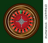classic casino roulette wheel...   Shutterstock .eps vector #126949610